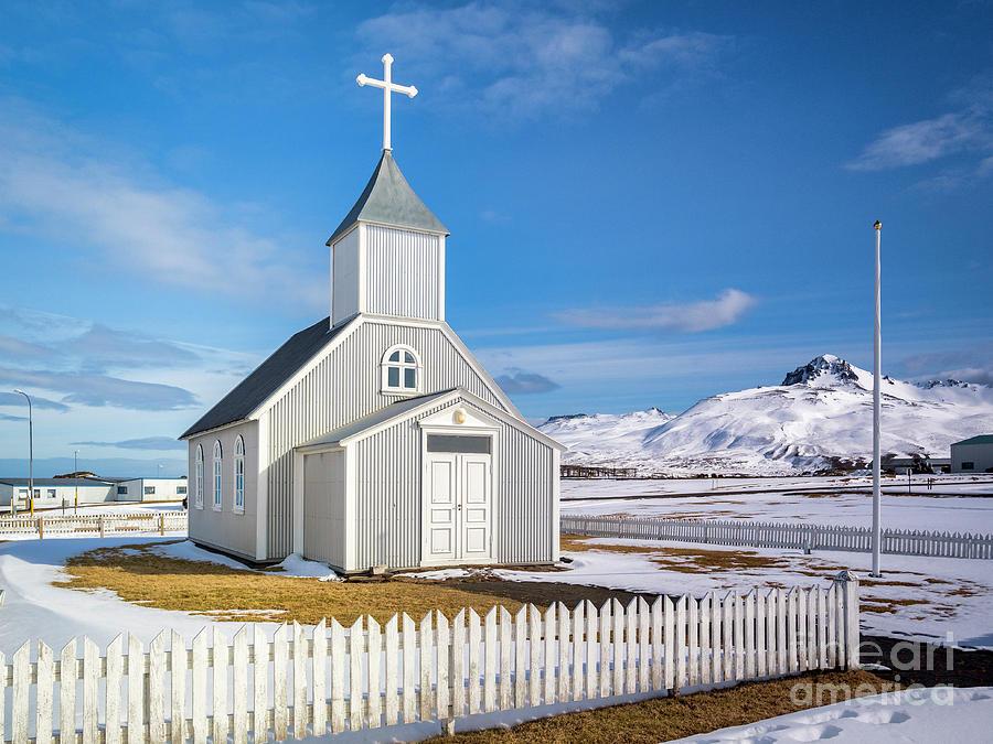 Church At Bakkagerdi, Iceland Photograph