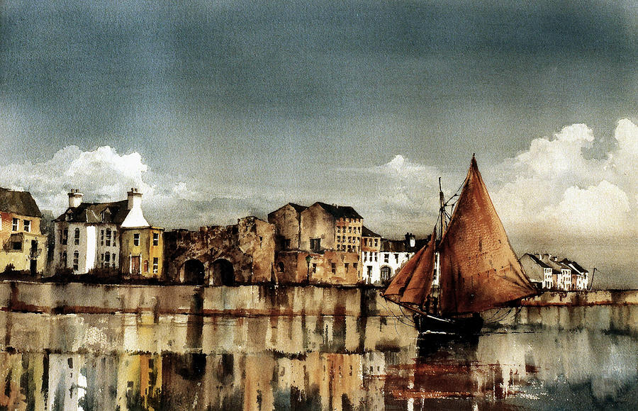 Cladagh Harbour, Galway Citie. by Val Byrne