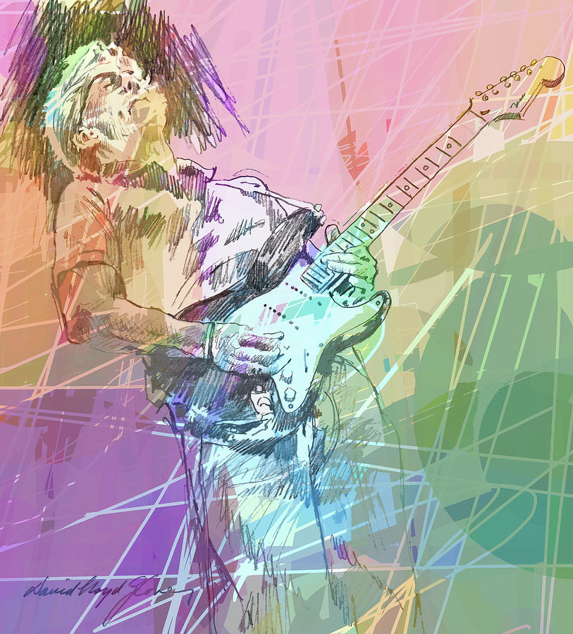 Clapton Blues Down Painting