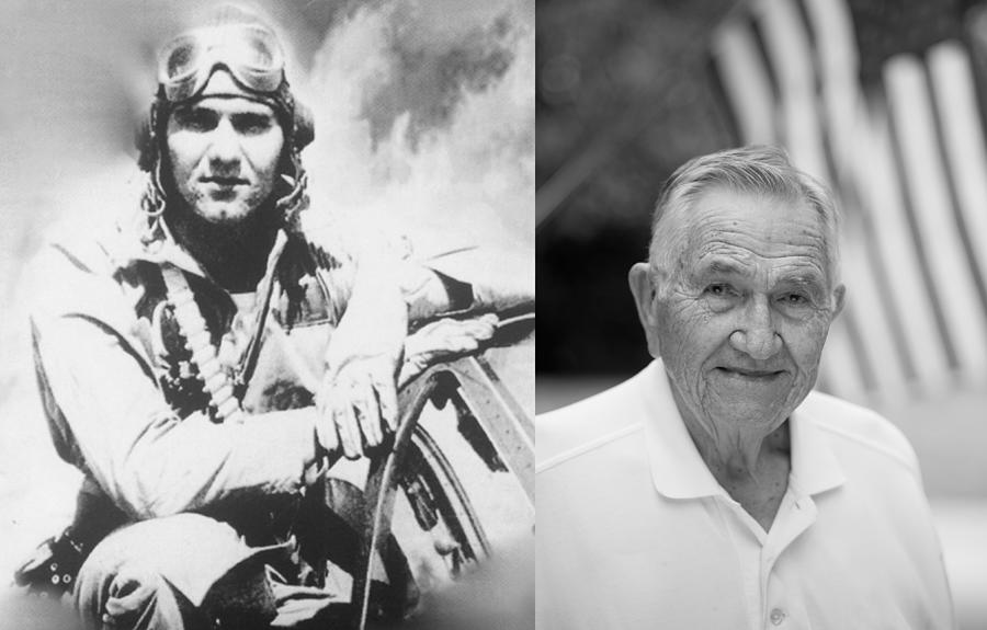 Wwii Photograph - Colonel Dean Caswell USMC WWII Fighter Ace by Pilots And Partisans Then and Now