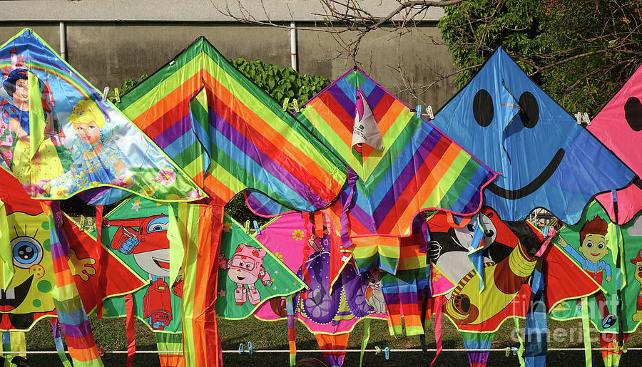 Colorful Kites with Cartoon Images by Yali Shi