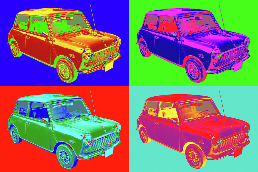 Colorful Mini Cooper Pop Art Illustration Photograph