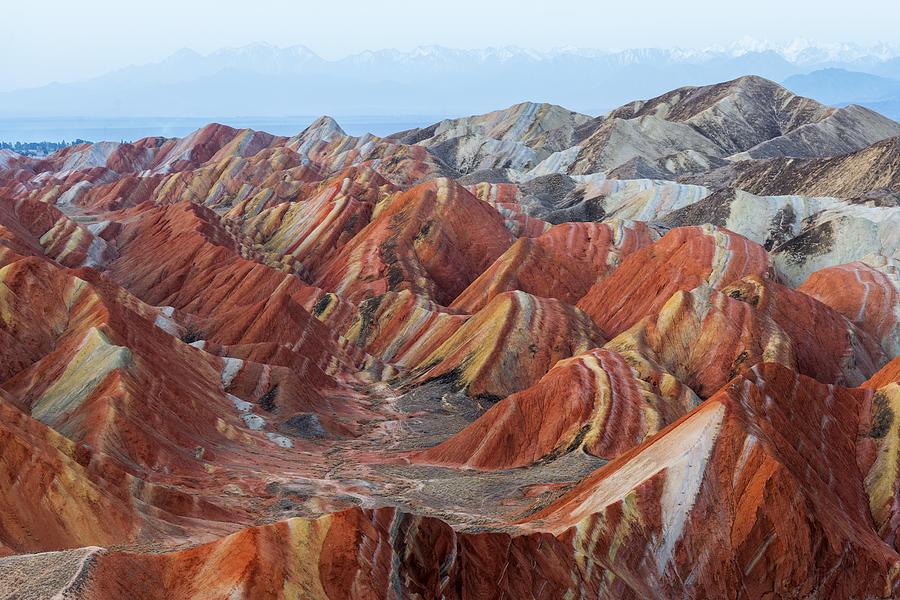 Colorful mountain in Danxia landform in Zhangye, Gansu of China Photograph by Ratnakorn Piyasirisorost