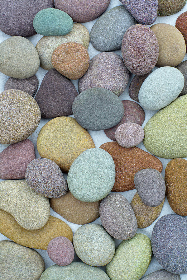 Colorful Sand Stones by Kathi Mirto