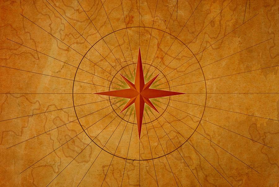 Compass Rose Photograph by Dem10