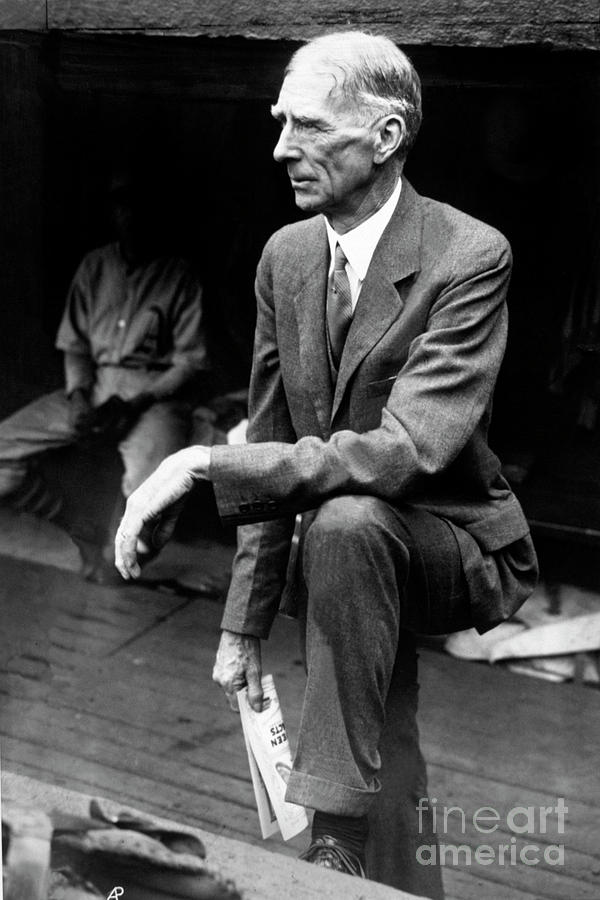 Connie Mack Photograph by National Baseball Hall Of Fame Library