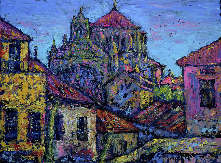 Convento De San Esteban In Salamanca Painting