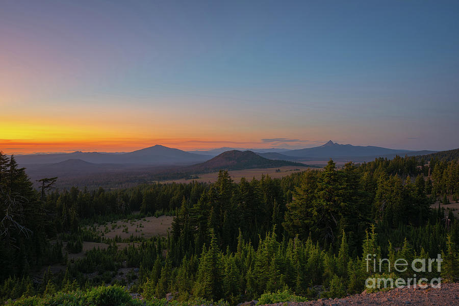 Crater Lake Rim Drive At Dusk by Michael Ver Sprill
