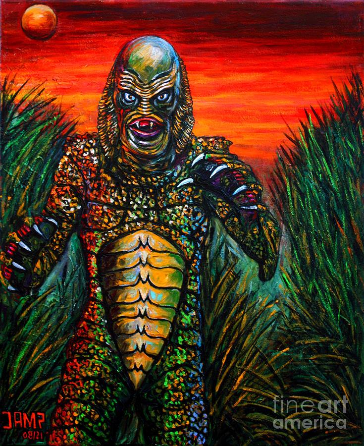 Creature Painting - Creature Black Lagoon by Jose Mendez
