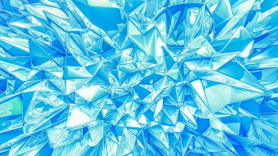 Crystal Triangle Background. Vintage Illustration, 3d Rendering. Photograph