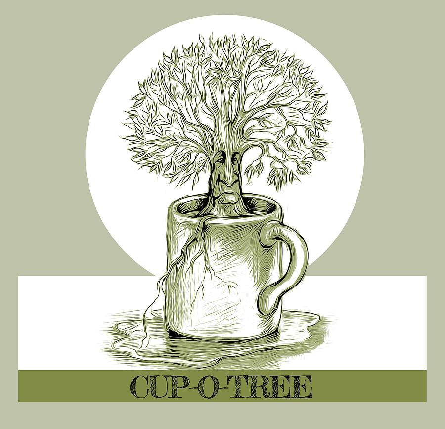 Cup O Tree Mixed Media
