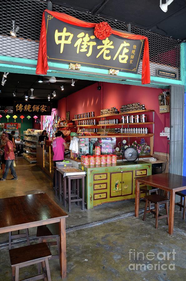 Customers Browse Chinese Food Shop Jalan Padungan Kuching Sarawak Malaysia Photograph