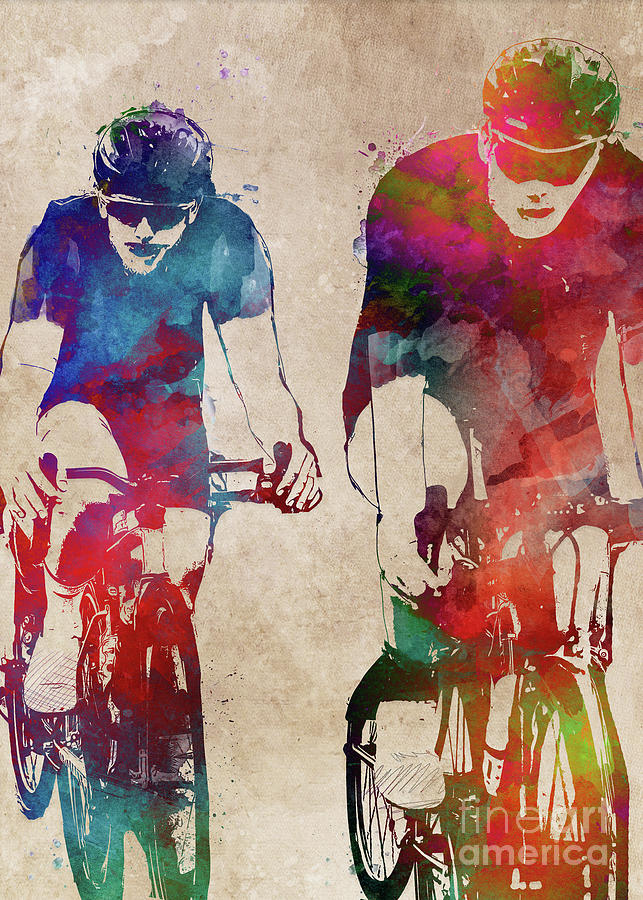Cycling #cycling #sport #bike Digital Art