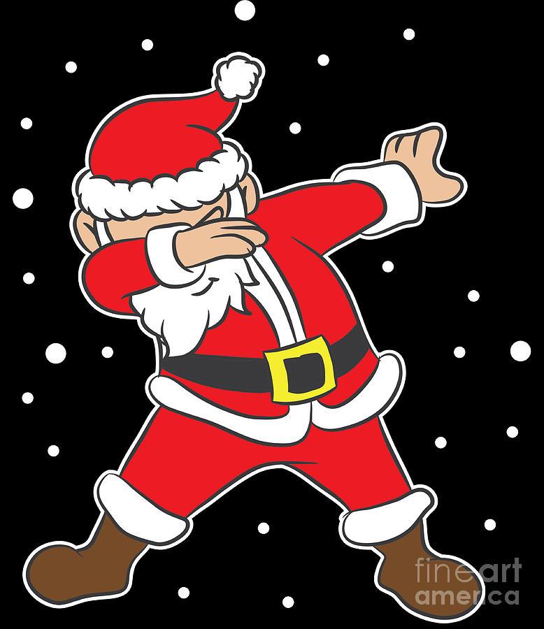 Dabbing Santa Claus Dab Merry Dabmas Christmas Xmas Gift Digital Art By Haselshirt
