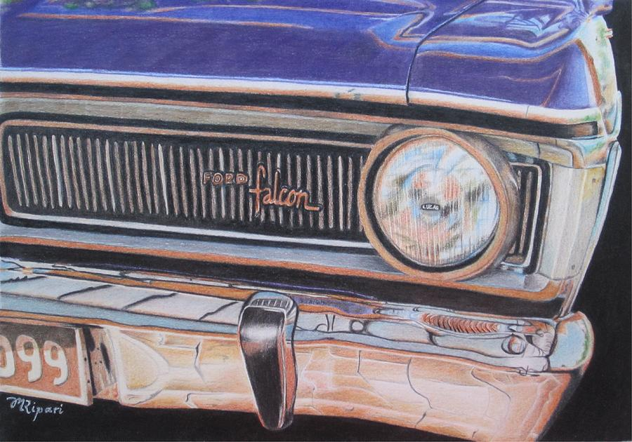 Car Drawing - Dads Beast by Michelle Ripari
