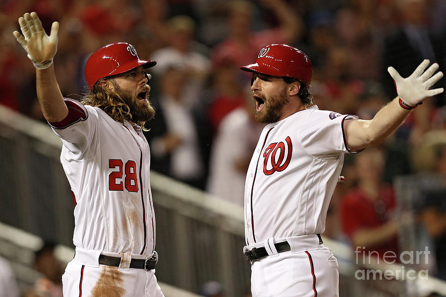 Daniel Murphy and Jayson Werth Photograph by Patrick Smith