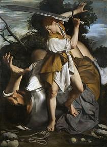 David and Goliath by Orazio Gentileschi