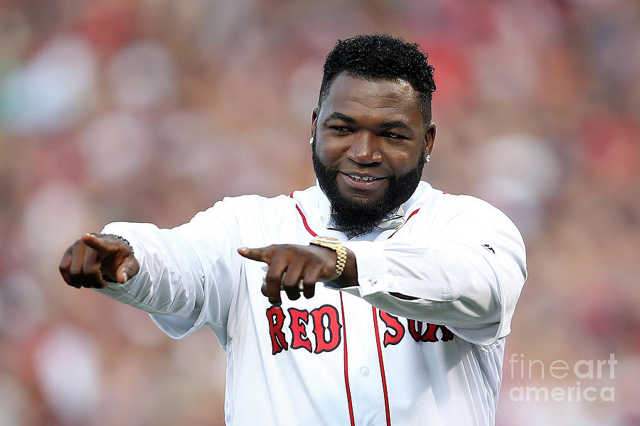 David Ortiz Photograph by Adam Glanzman