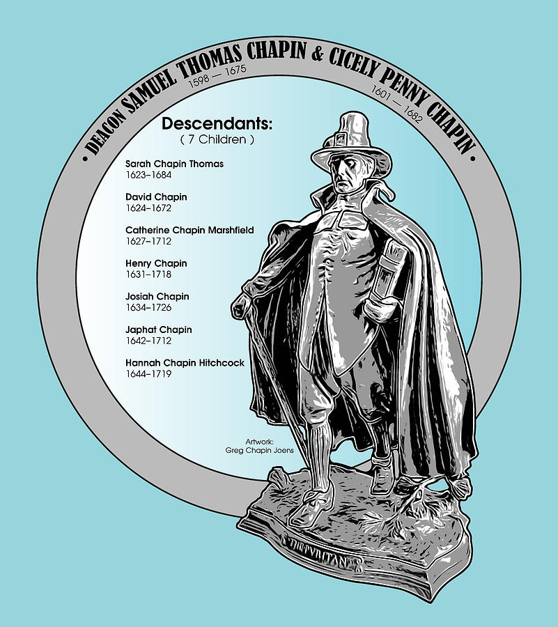 Deacon Samuel Chapin Digital Art - Deacon Samuel Chapin by Greg Joens