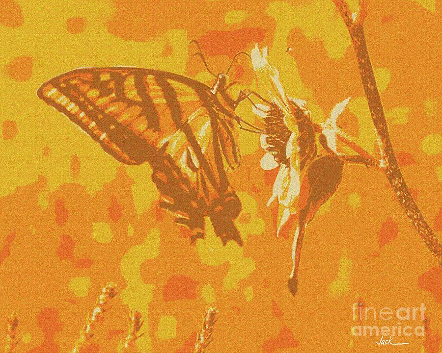 Butterfly Painting - Delicate Butterfly 2020 by Jack Bunds