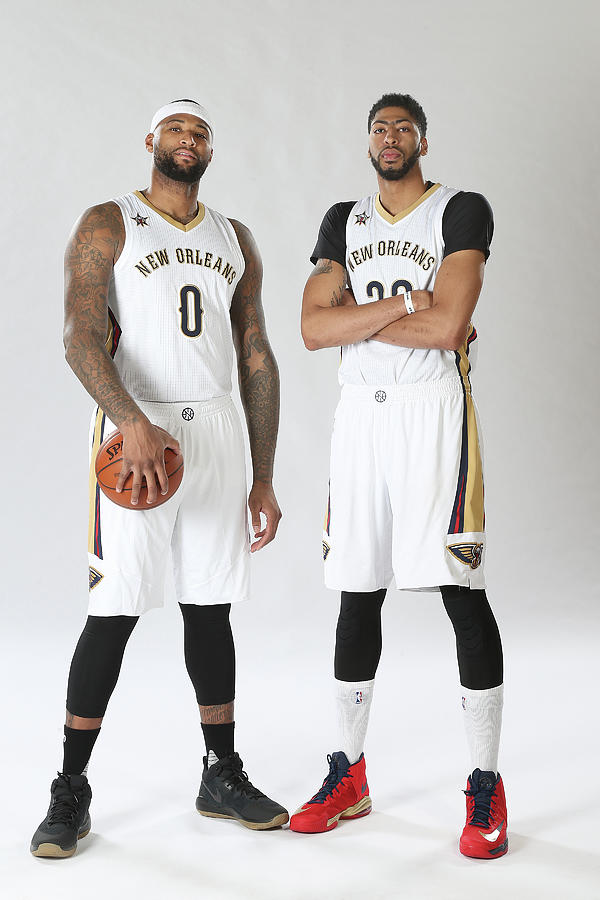 Demarcus Cousins and Anthony Davis Photograph by Layne Murdoch