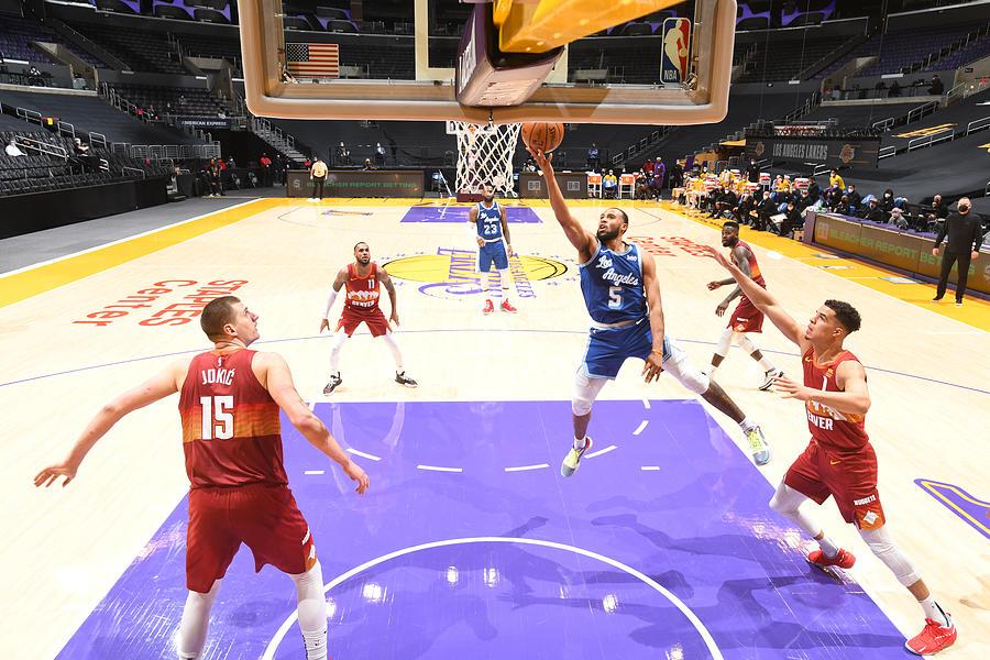 Denver Nuggets v Los Angeles Lakers Photograph by Adam Pantozzi