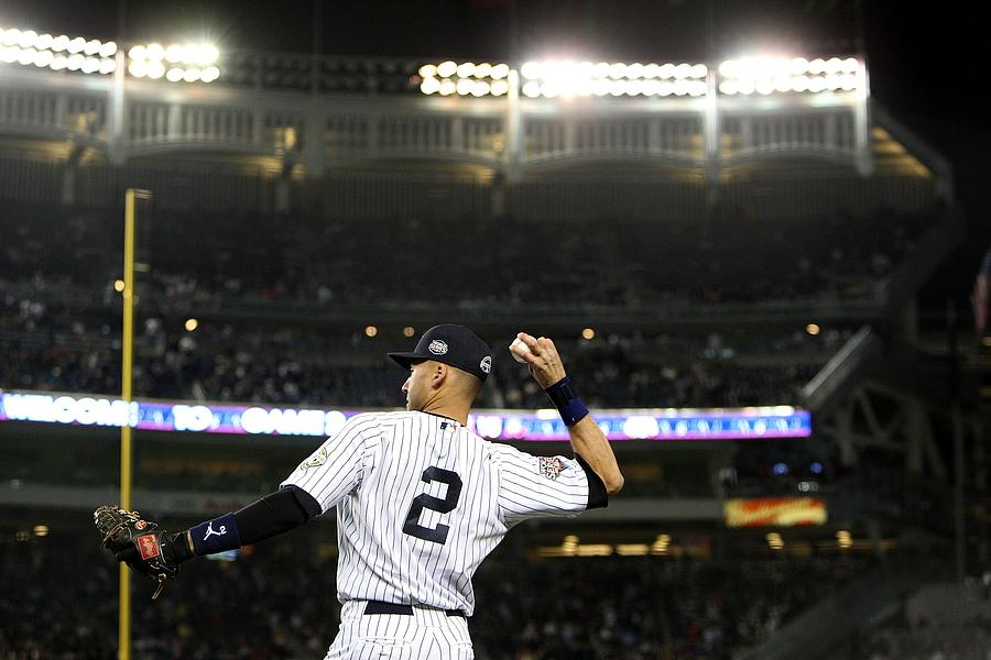 Derek Jeter Photograph by Jed Jacobsohn