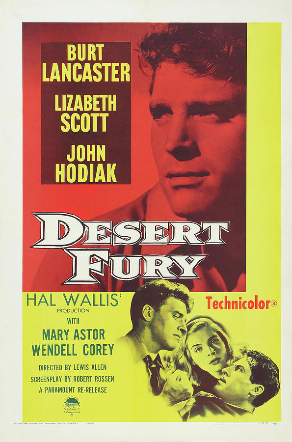 desert Fury, With Lizabeth Scott And Burt Lancaster, 1947 Mixed Media
