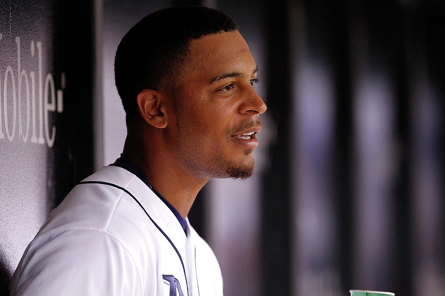 Desmond Jennings Photograph by Brian Blanco