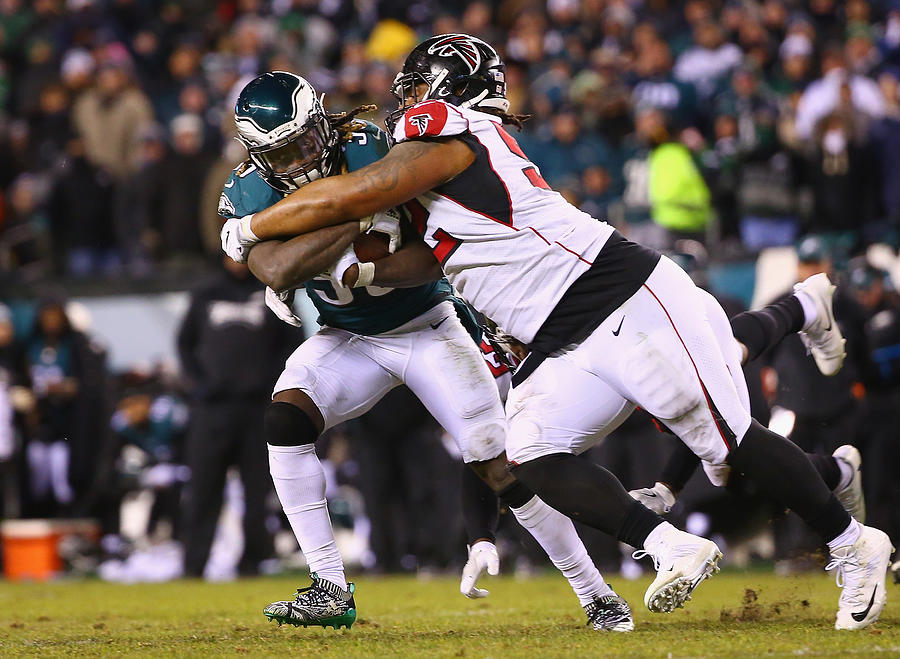 Divisional Round - Atlanta Falcons v Philadelphia Eagles Photograph by Mitchell Leff