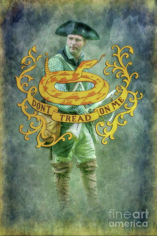 Don T Tread On Me Rattlesnake Flag Digital Art By Randy Steele
