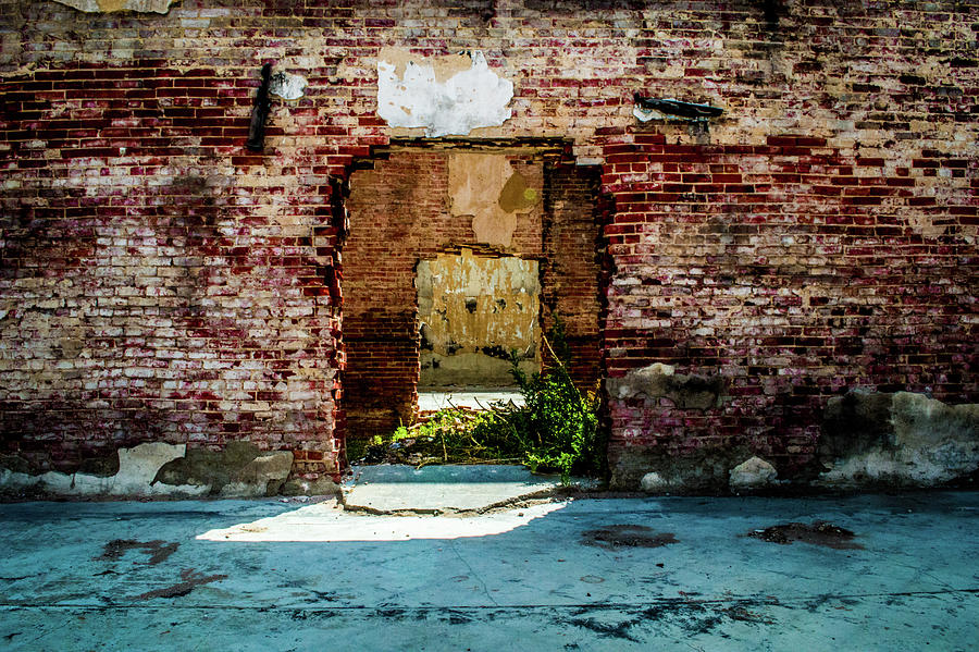 Brick Photograph - Doorway to the Past by Peyton Vaughn