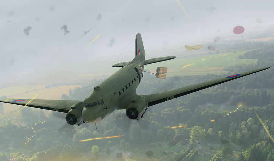 Dc-3 Digital Art - Drop Zone Victor by Hangar B Productions