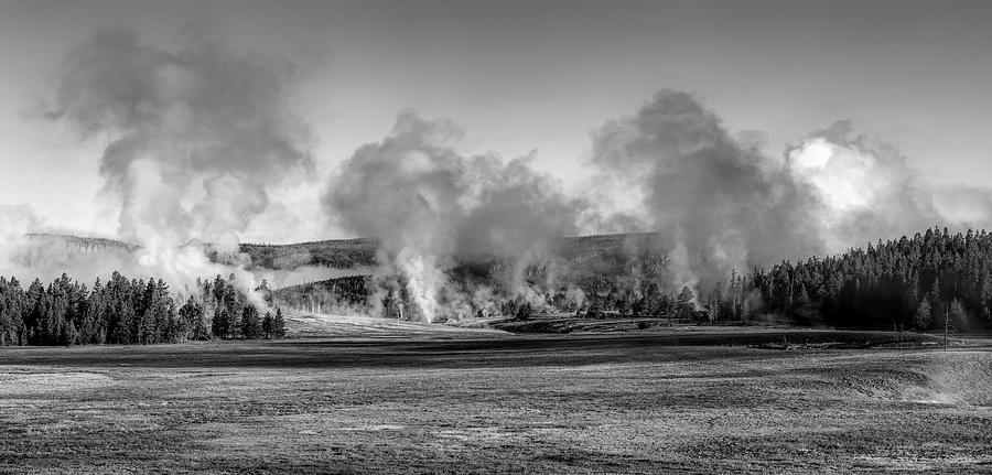 Yellowstone National Park Photograph - Early Morning Steam - Yellowstone by Mountain Dreams