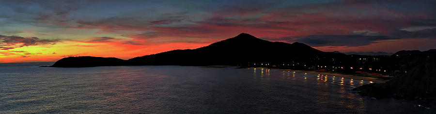 Dawn Photograph - Early Seaside Sunrise Panorama by David Farlow