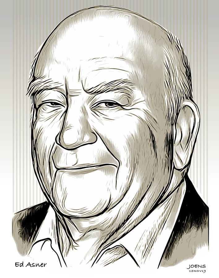 Ed Asner by Greg Joens