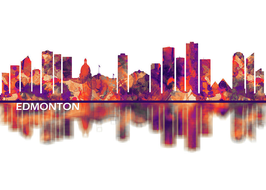 Edmonton Mixed Media - Edmonton Canada Skyline by Towseef Dar