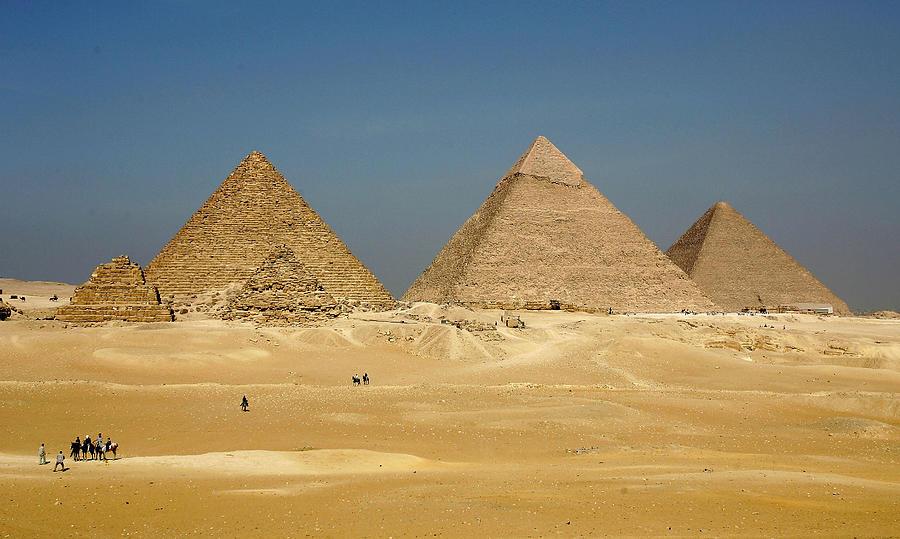 EGY: The Pyramids at Giza Photograph by Sean Gallup