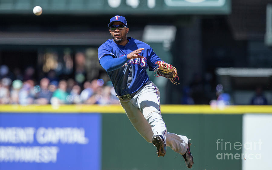 Elvis Andrus Photograph by Stephen Brashear