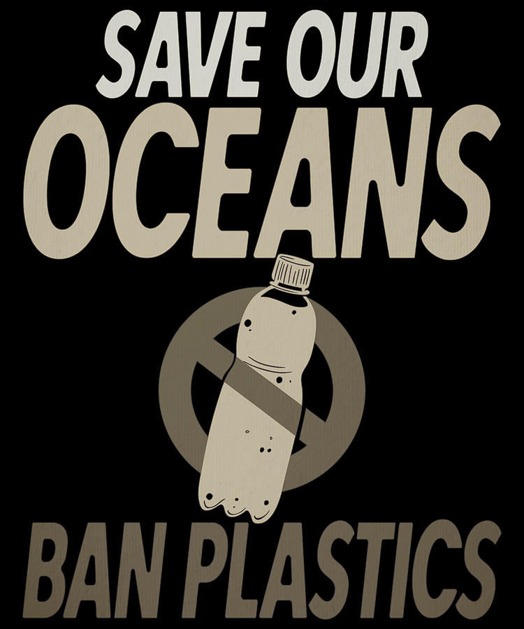 Environmental Awareness Save Our Oceans Ban Plastics Drawing