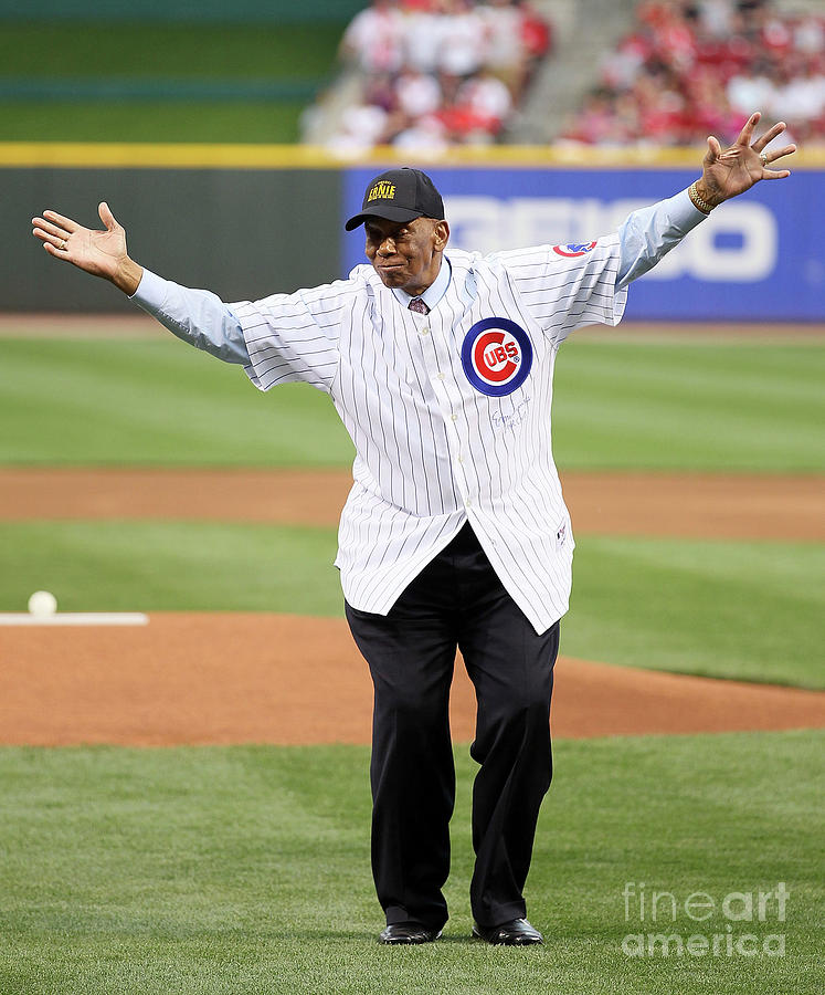 Ernie Banks Photograph by Andy Lyons
