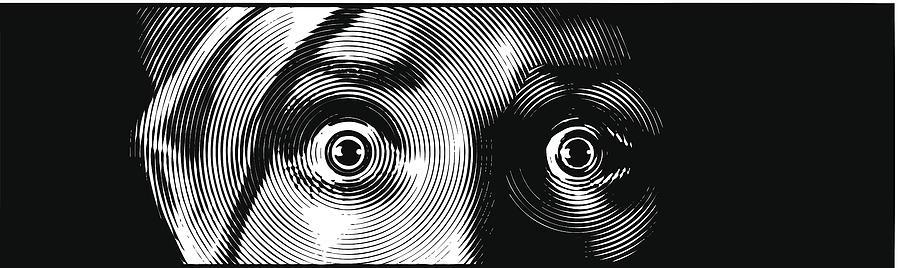 Eyes Terrified Drawing by GeorgePeters