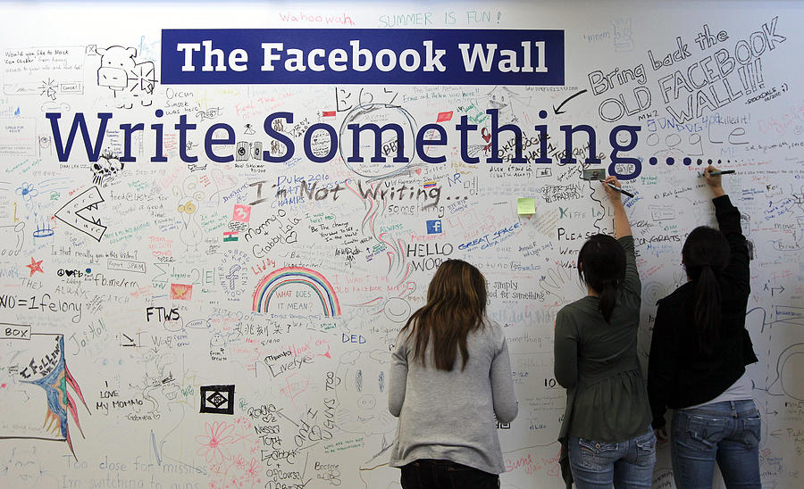 Facebook Executives Reveal New Features For Popular Social Networking Site Photograph by Justin Sullivan