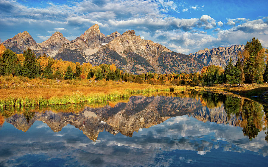 Fall Reflections In The Tetons Photograph