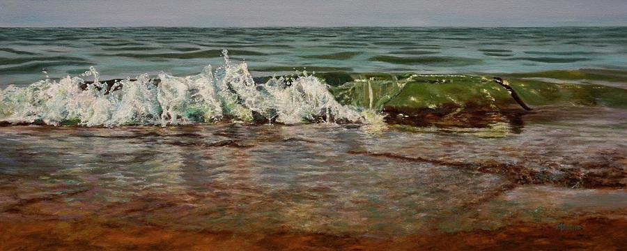 Seascape Painting - Falling Water by Morgan Adams
