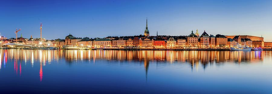 Stockholm Photograph - Fantastic Gamla Stan Reflection in the Baltic Sea by Dejan Kostic