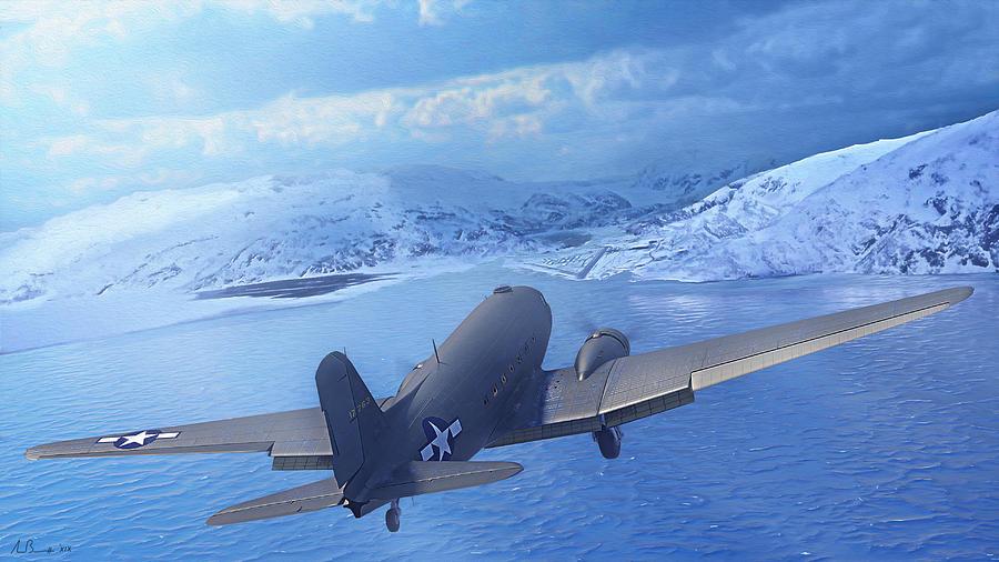 Dc-3 Digital Art - Feelin Blue by Hangar B Productions