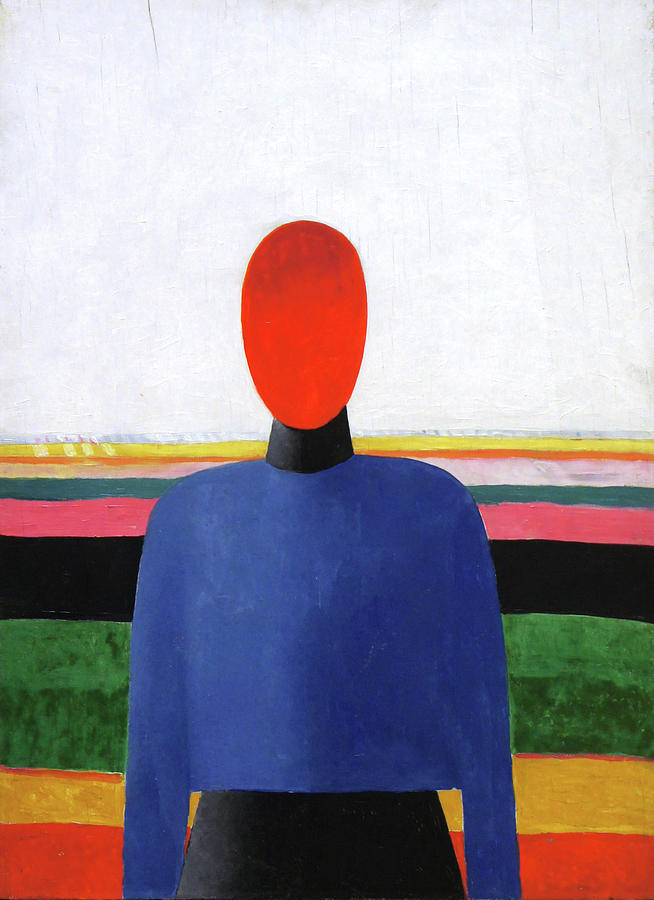 Female Torso Painting by Kazimir Malevich