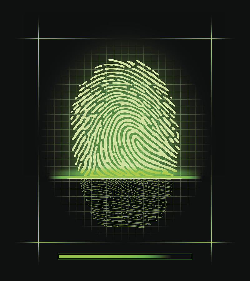 Fingerprint scanner Drawing by Juffin