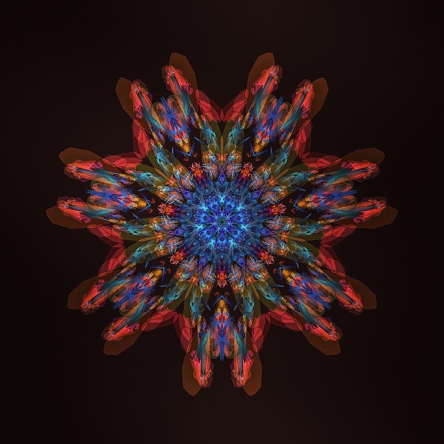Fire And Ice Mandala Digital Art